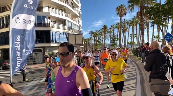 liebre en el maratón de Malaga