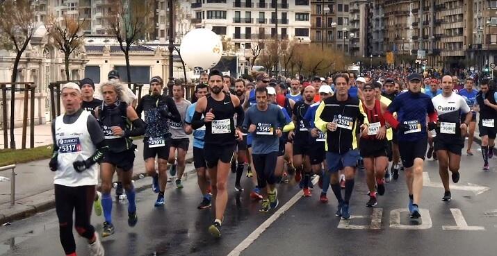 corredores maratón san sebastián donostia