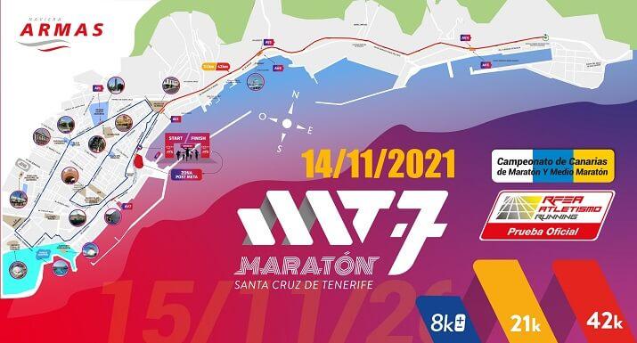 recorrido maratón santa cruz de tenerife 2021