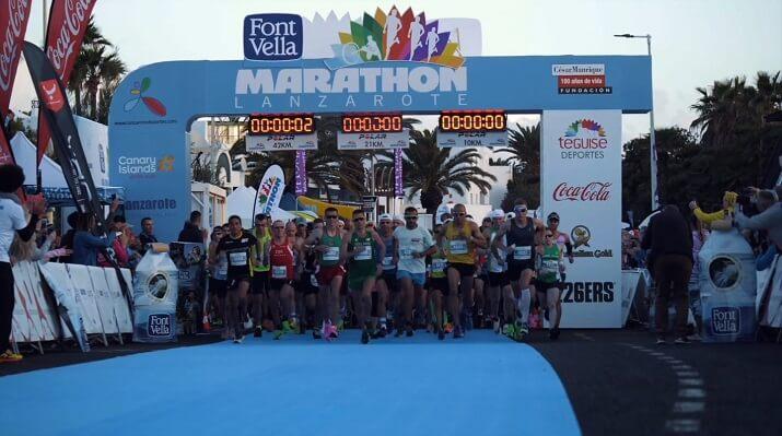 salida del Lanzarote Marathon