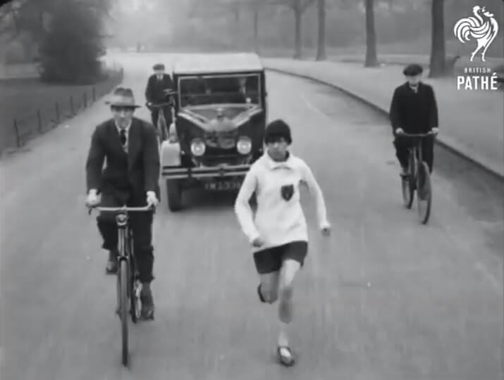 Violet Piercy primera mujer maraton cronometrada