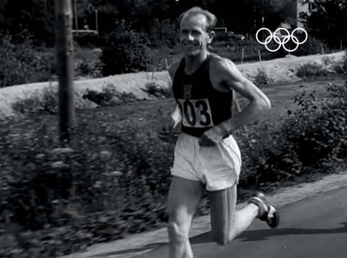 Zátopek en los Juegos Olímpicos de Helsinki 1952